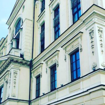 Мытье фасада Здания (г. Москва, метро Тверская)